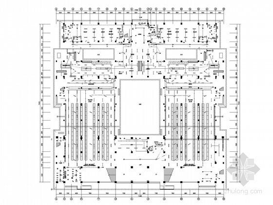 [湖南]综合大学食堂强电系统施工图纸