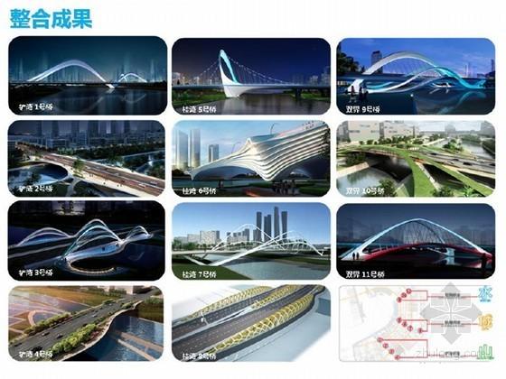 [广东]城市桥梁概念性设计投标方案整合汇报33页(图片丰富)