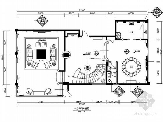 [深圳]华丽浪漫欧式风情别墅装修CAD施工图(含效果图)