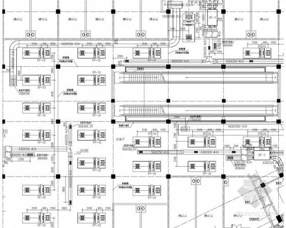 [内蒙古]商业广场空调通风系统设计施工图(制冷机房 冷热源系统)