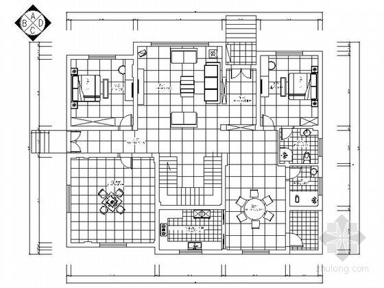 现代高档复式样板间装修施工图(含效果)