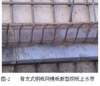 [QC成果]模板功能新型钢板止水带的研制