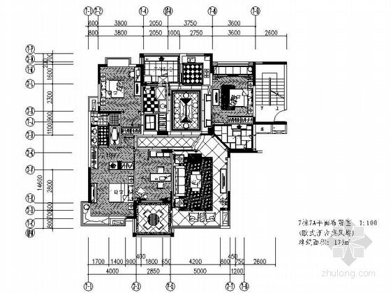 [江西]赣州精品新古典主义风格样板房设计施工图