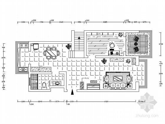 某地中海风格设计复式住宅装修图(含实景)