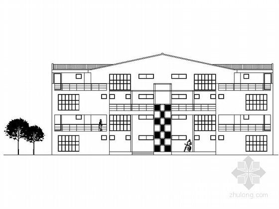 某四层双拼别墅建筑方案图(含效果图)