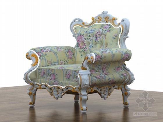 法式沙发3D模型下载