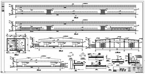 某3×18米跨门式刚架厂房全套图纸