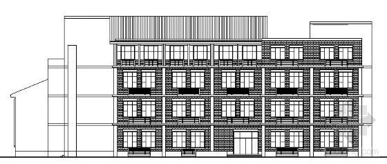 某四层图书馆建筑设计方案图