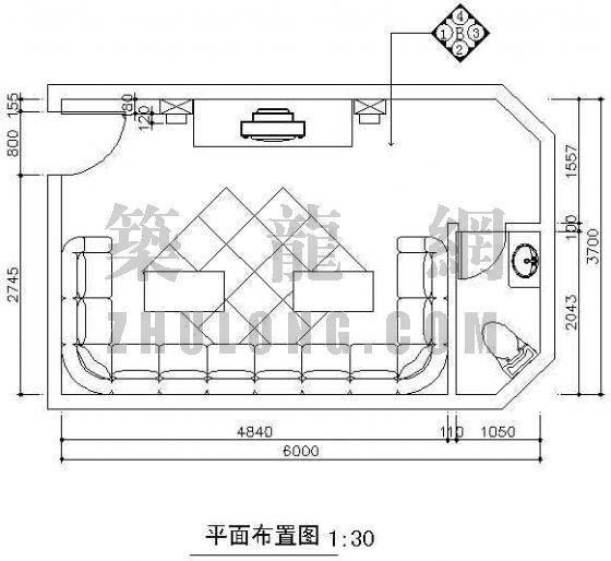 深圳某酒店KTV房内装修施工图