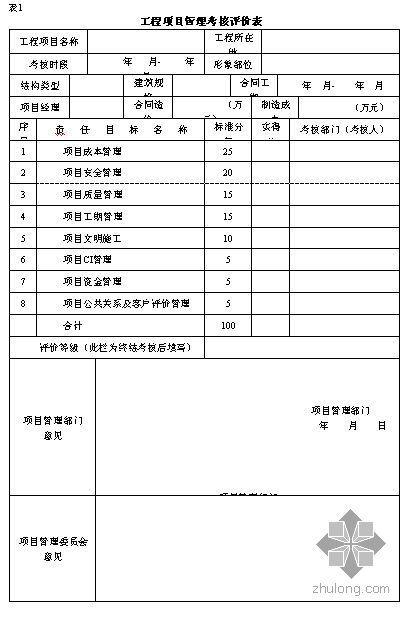 项目管理考核与评价管理办法(2006年)