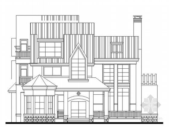某三层北欧别墅建筑方案(348平方米)