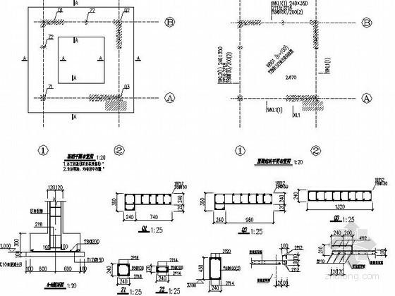 某小区主入口门房施工节点详图