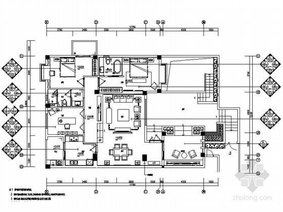 [厦门]情景洋房样板房室内施工图