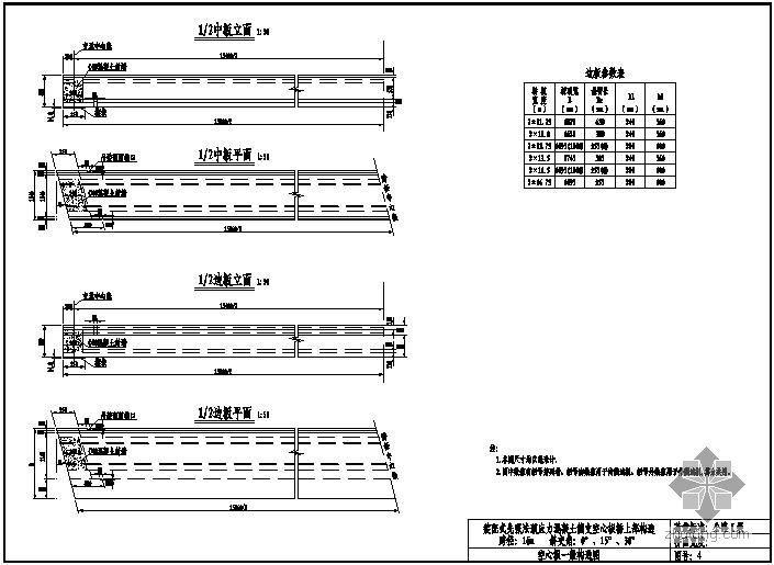 装配式先张法预应力混凝土简支空心板桥上部构造通用图(跨径16m、公路-Ⅰ级、1.25m板宽)