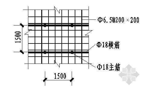 土钉墙设计模板:土钉钉剖面大样图