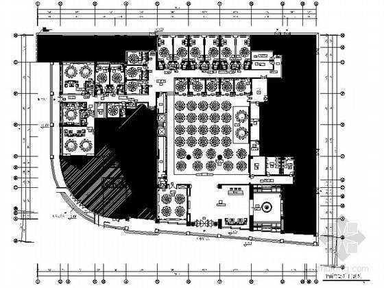 [广东]国际大厦中餐厅室内装修设计图(含实景)