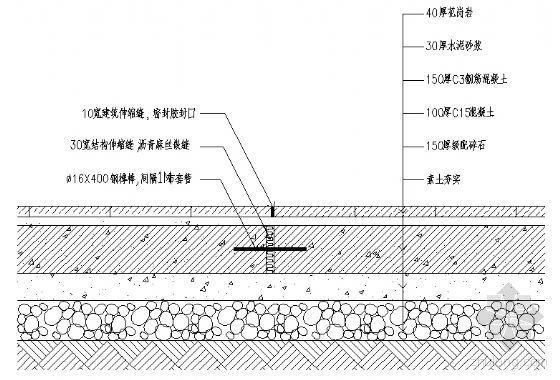 地面花岗岩铺地详图