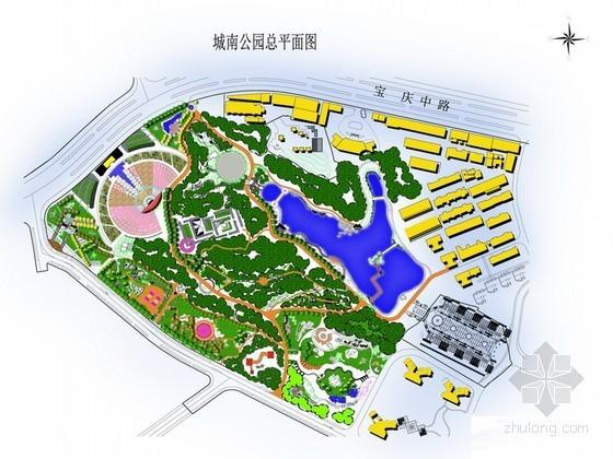 城南公园景观设计总平面图PSD素材