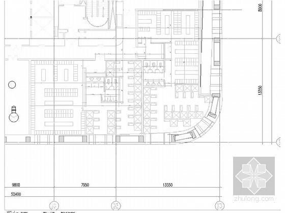 [天津]超高层框架钢结构航障灯墙面办公酒店综合体建筑施工图-超高层框架钢结构航障灯墙面办公酒店综合体建筑立面图