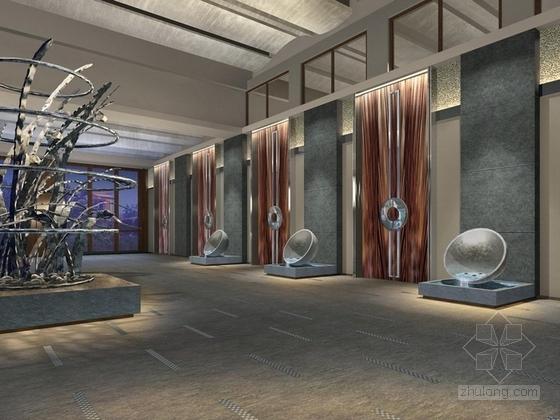 [三亚]原始热带天堂品牌国际连锁度假酒店电梯厅效果图