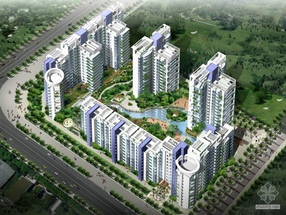 [深圳]某庭园住宅小区设计CAD方案及配套文本(报建、修改)