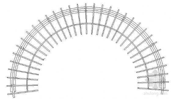 弧形花架详图