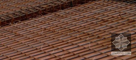 [贵州]框剪结构会议中心地上结构施工方案(中建附图)-板钢筋绑扎成型示意图