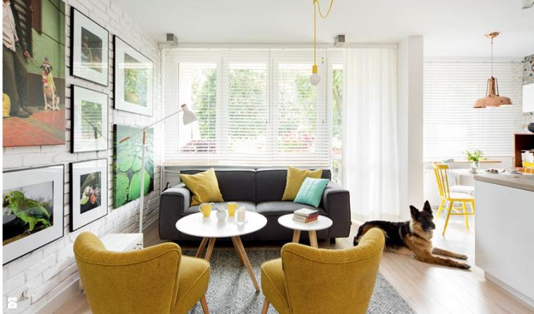 波兰现代简约花砖公寓