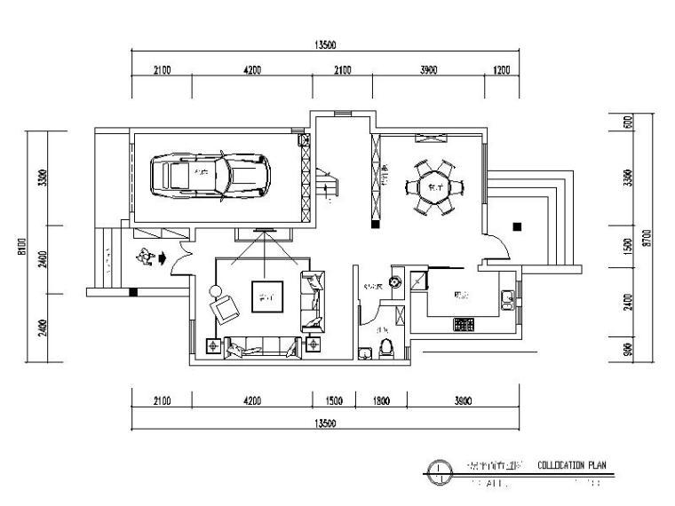 欧式风格独栋别墅设计整套CAD施工图(含效果图)