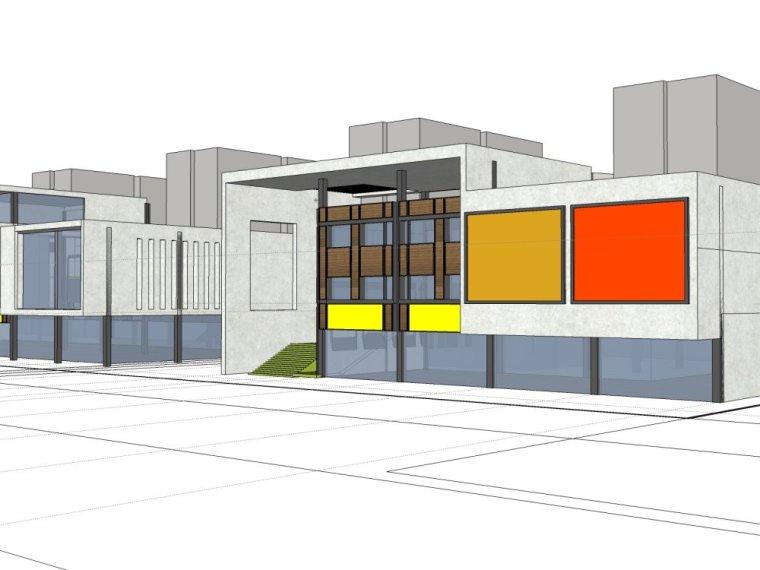 规划住宅现代高层平面立面总图skp+商业商业街平面立面总图-22fd86ad53f113b2f79806683f200239