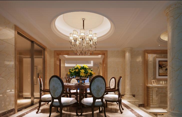 欧式古典家装效果图资料下载-罗马佳洲别墅家装设计方案及效果图