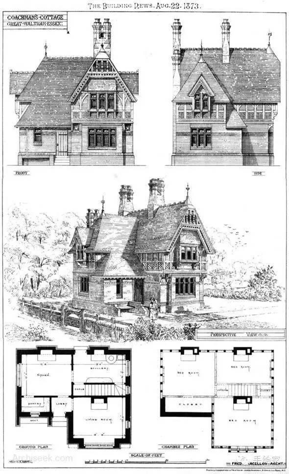 百年经典建筑设计手绘图_23