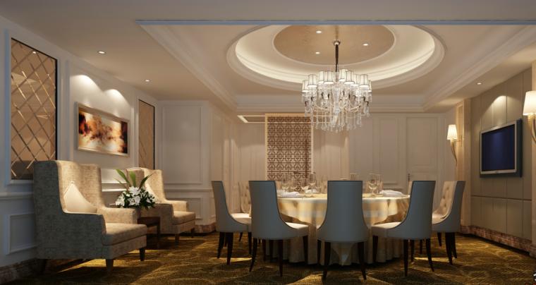 【福建】欧式风格大酒楼设计CAD施工图(含效果图)效果图