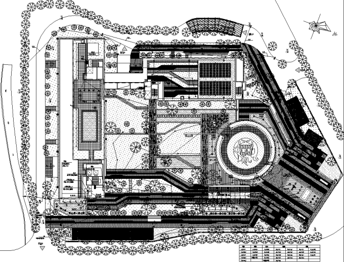 [重庆]生态智能交通物联网RFID工程中心环境景观设计全套施工图(2017最新图纸)-景观照明平面布线图