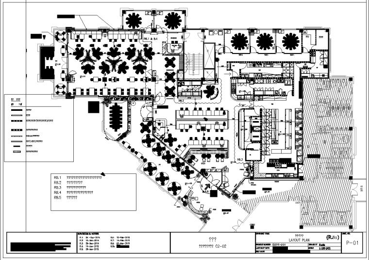花悦庭主题艺术餐厅室内设计施工图(附效果图)