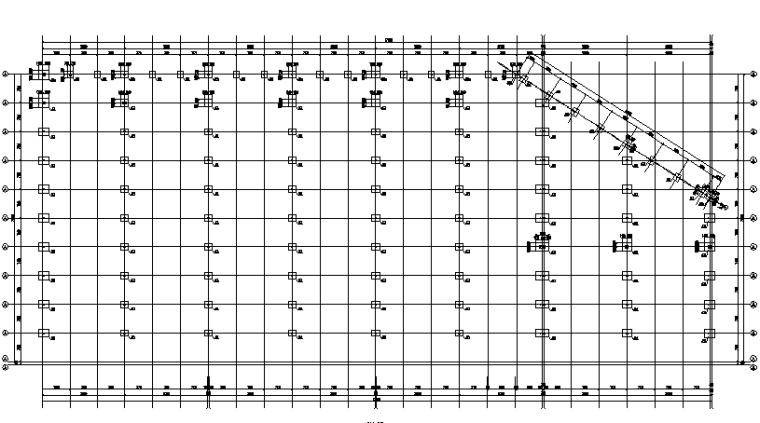 成都171X74m门式刚架钢结构施工图(CAD,10张)