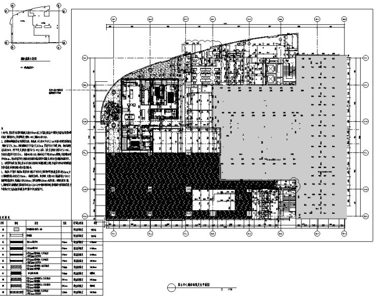 知名地产前海售楼处设计施工图(附效果图+物料清单+软装方案)-定位平面图