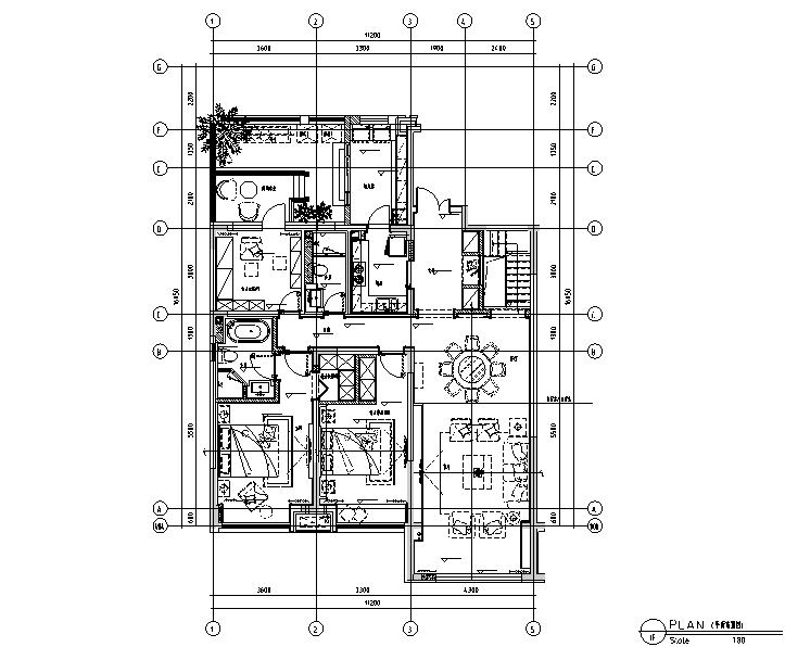 新韵至雅|古典邂逅现代样板间设计施工图(附效果图)