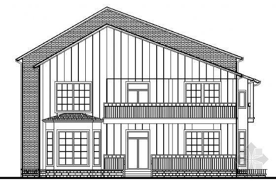 山东某二层别墅建筑结构建筑施工图