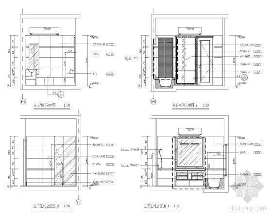 家居主卫立面设计图