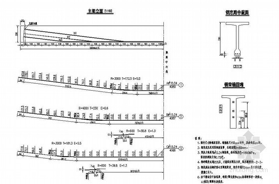 40mT梁梁肋预应力钢束构造节点详图设计