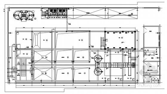 成都某废水处理站桥架平面布置图