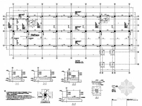 [江西]地上六层框架结构康复楼结构施工图