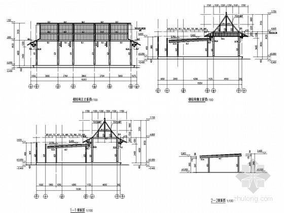 [天津]钢结构古建会所结构施工图