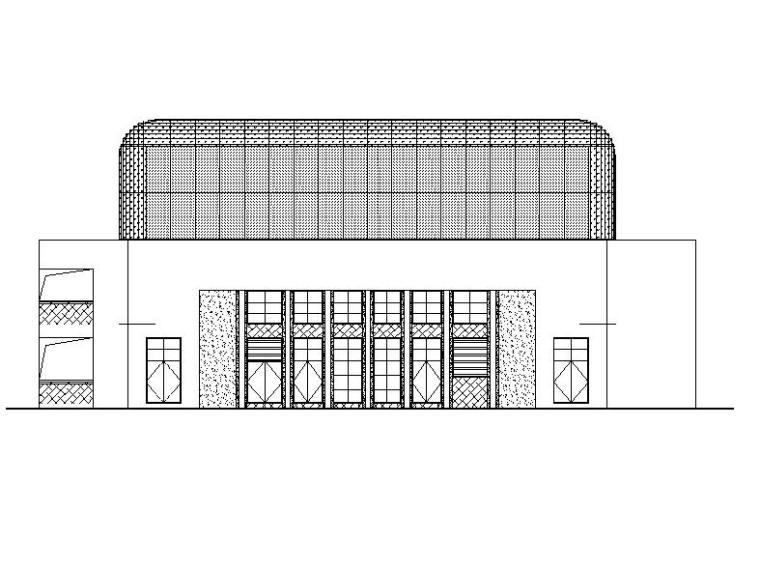 [广东]四层金属幕墙初级中学体育馆建筑施工图(16年)