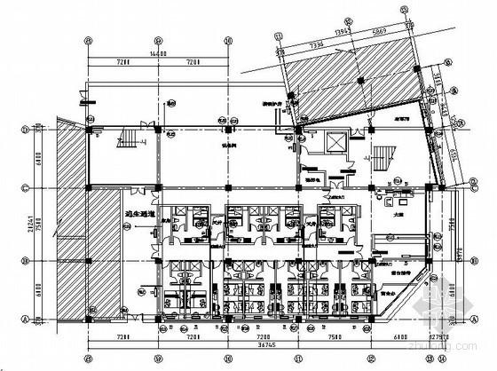 [长春]某快捷连锁酒店采暖设计图