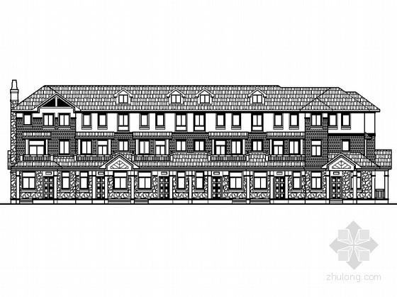 某三层欧美联排别墅建筑施工图