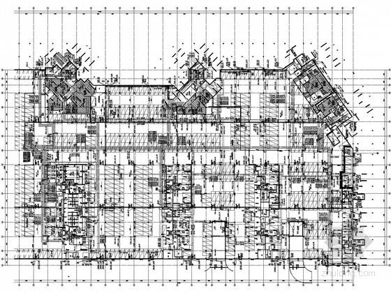 [广东]高级住宅小区高层住宅楼群给排水全套图纸(同层排水 气体灭火)