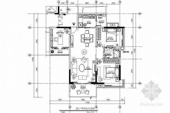 西南区繁华经济中心花园小区现代风格两居室装修图