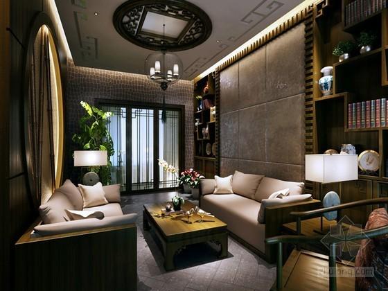 中式古典客厅3D模型下载